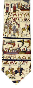 Museumize:Bayeux Tapestry Medieval Men Silk Neck Tie 3 7/8W