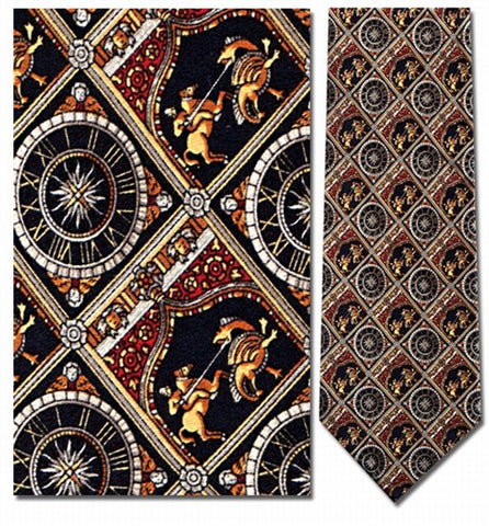 St. George Slaying the Dragon Medieval Men Silk Neck Tie - Museumize
