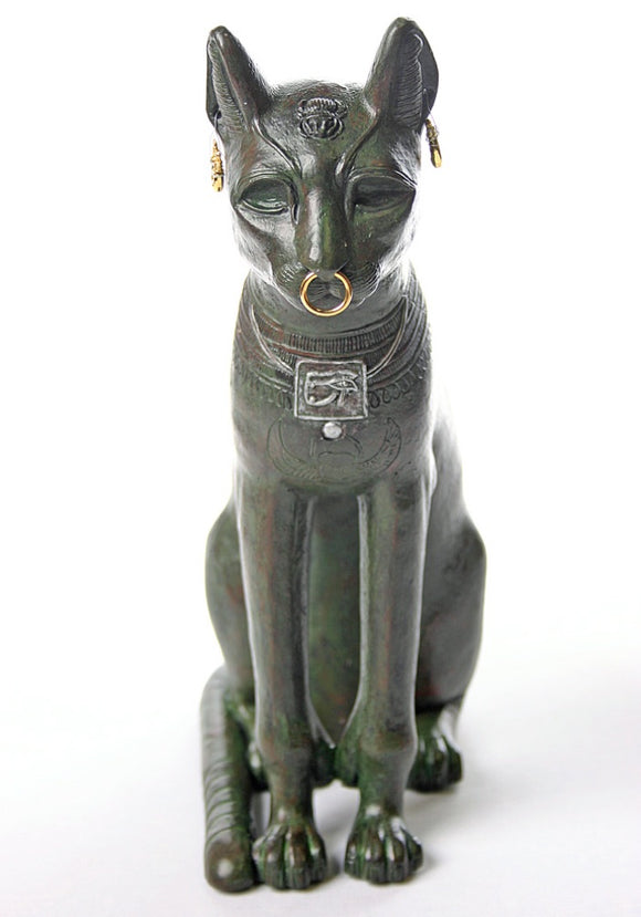 Bastet Egyptian Cat Statue Museum Replica, Gayer-Anderson 10H