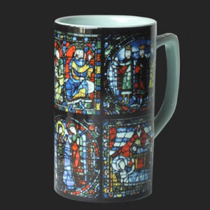 Mug Chartres Stained Glass Ceramic 8oz