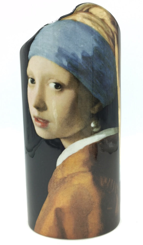 Vermeer Girl with Pearl Earring Ceramic Flower Vase 9H