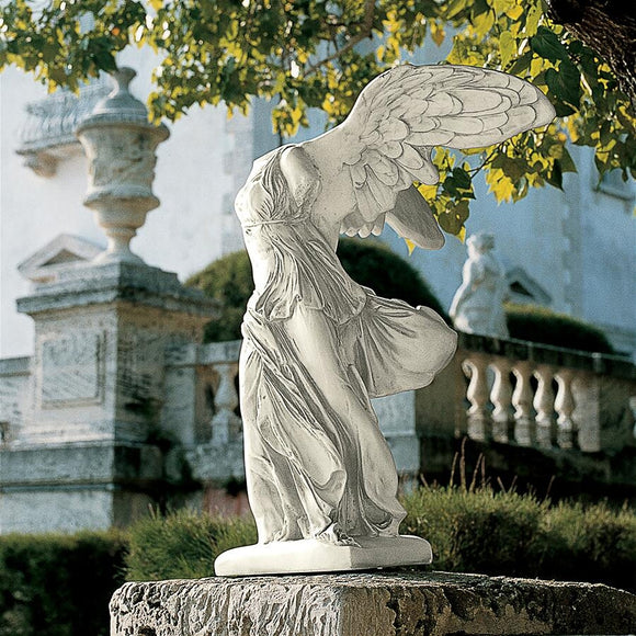 Nike of Samothrace Winged Greek Roman Goddess of Victory Garden Statue 40.5H