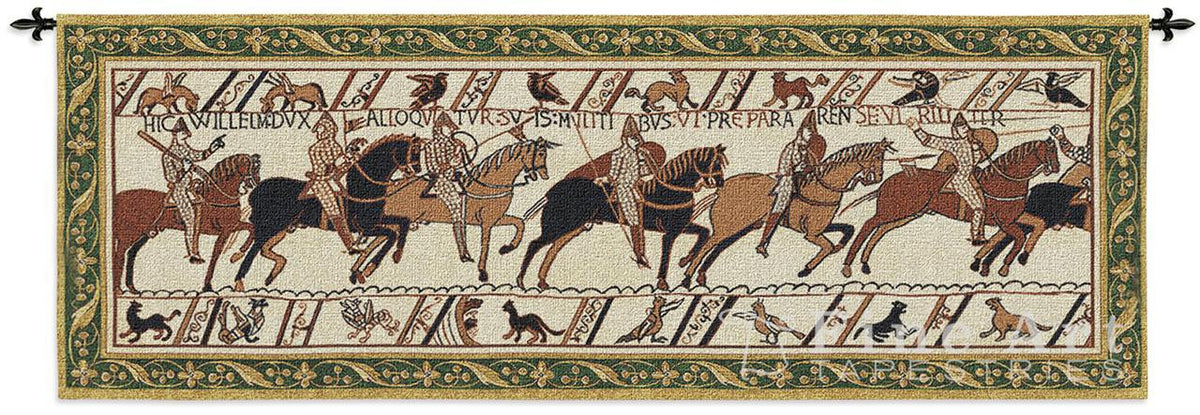 Bayeux Harold And William Battle Of Hastings Woven Wall