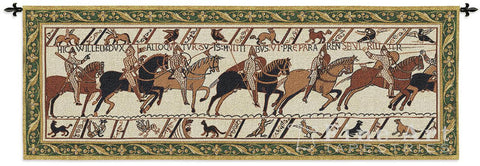 Bayeux Harold and William Battle of Hastings Woven Wall Tapestry 76W - Museumize  - 1