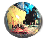 Cafe Terrace At Night Glass Dome Desktop Paperweight by Van Gogh 3W