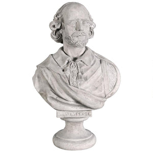 William Shakespeare Elizabethan Playright Portrait Bust Statue 31H