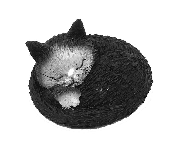 Cat Kitty Taking Nap Siesta Miniature Figurine by Dubout 1H