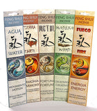 Feng Shui Incense Sticks 5 Scents (Earth Water Fire Wood Metal) by Flaires - Jumbo Pack