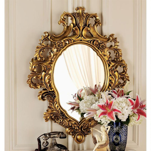 Madame Antoinette Salon Mirror Ornate French Rococo 37H