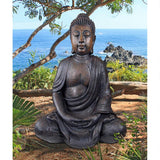 Large Buddha in Meditation Of The Grand Temple Garden Statue 40H
