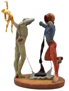 Poetry of America Cosmic Athletes Statue by Dali 6.5H