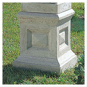 English Plinth Statue Display Riser Square Geometric Garden Base 21 x 28H