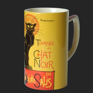 Mug Steinlen Chat Noir Black Cat Ceramic 8oz