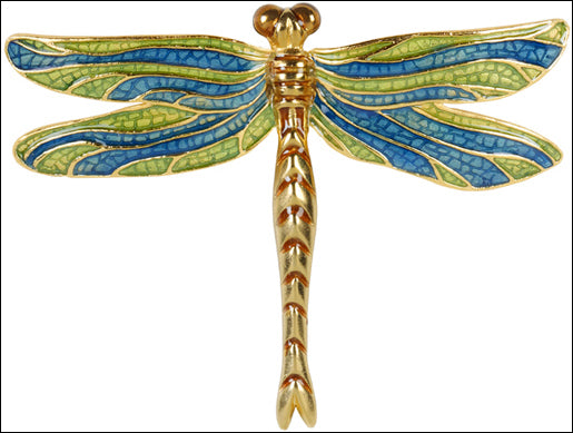 Dragonfly Pin Brooch Enamel Tiffany Blue Green 2.1H