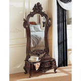 Thornwood Manor Victorian Dressing Mirror Handcarved Mahogany with Drawer 74H