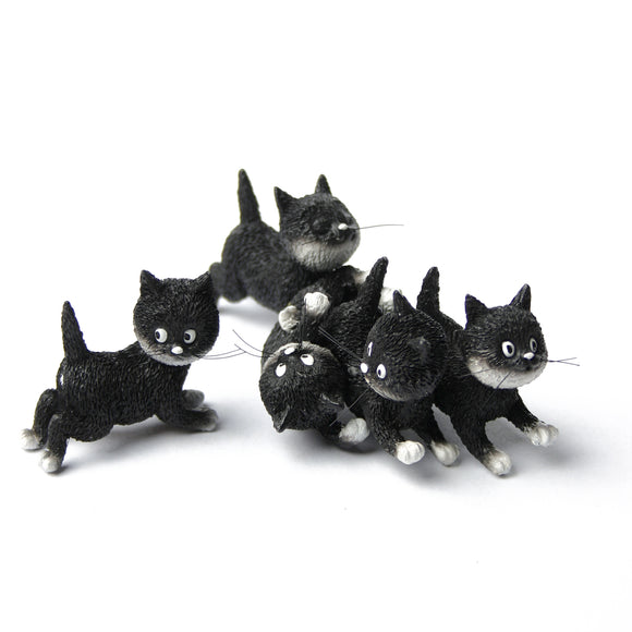 Follow Me Suivez Moi Kittens Playing Together in a Pile Figurine by Dubout 4.5L