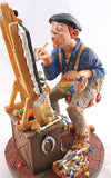 Museumize:Artist Creating a Painting Profession Statue as Paints Spill Profisti Parastone 11.25H