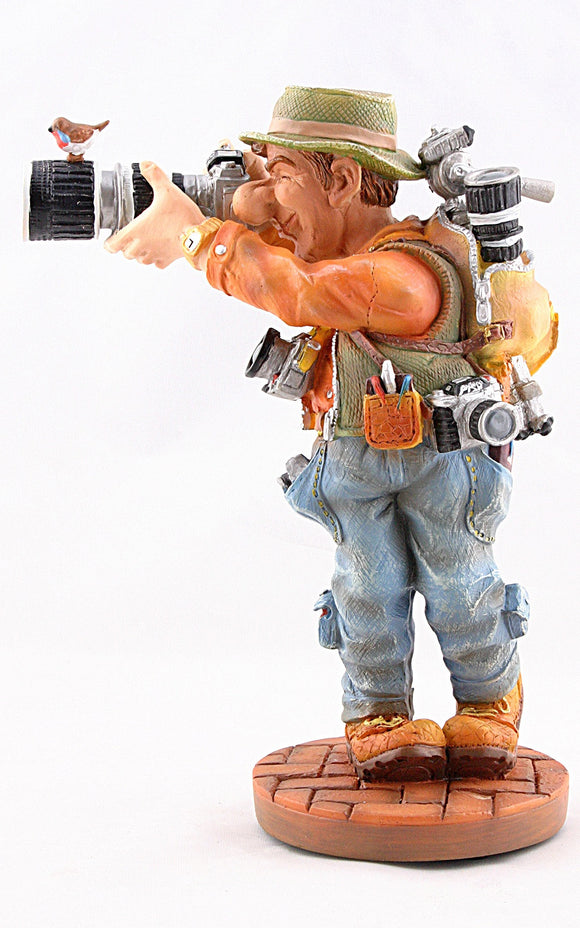 Museumize:Photographer Taking Picture Profession Statue Cartoon Parastone, Assorted Sizes