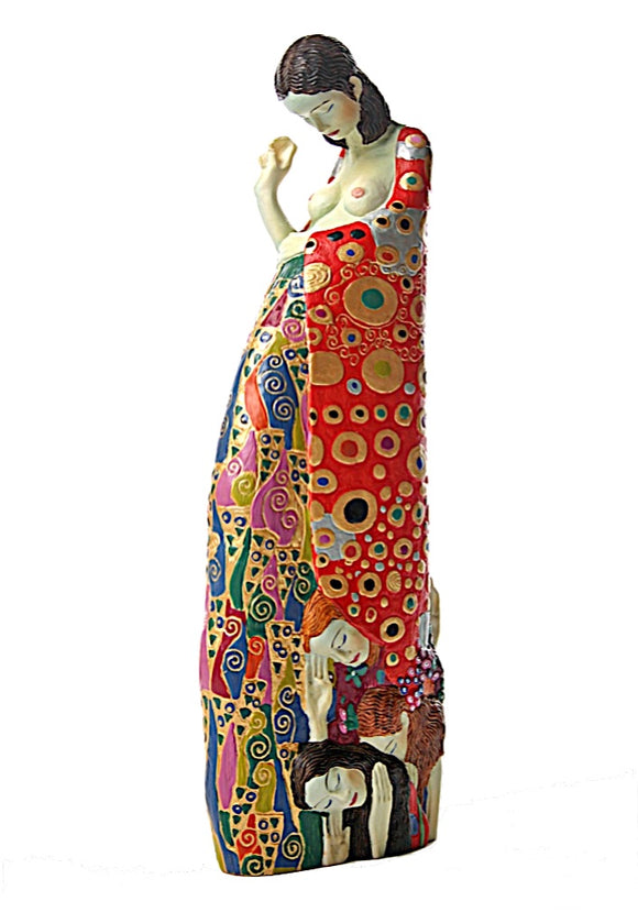 Hope II Woman Pregnant Expecting Child Art Nouveau Statue by Gustav Klimt 9.25H