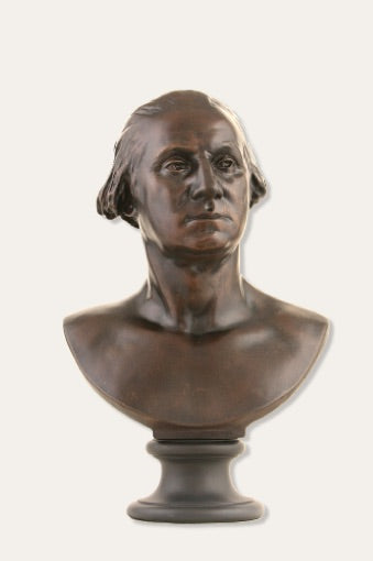 George Washington American President Portrait Bust by Houdon Bronze Finish 24H