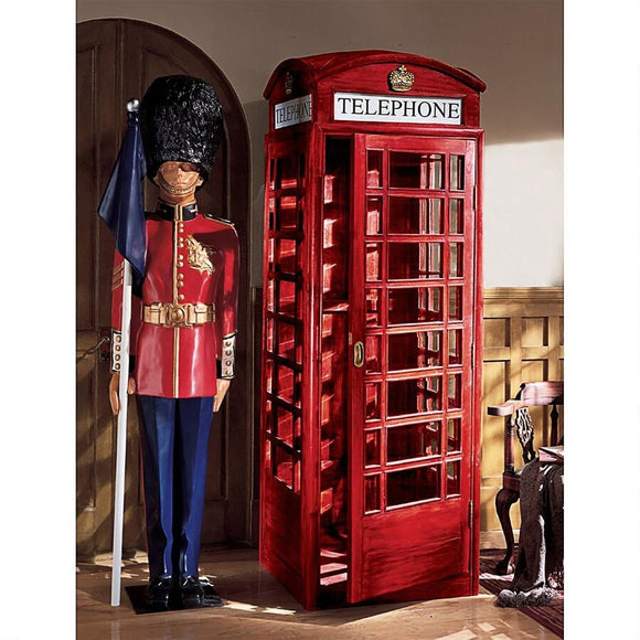 British Telephone Booth Replica England Bright Red 94H