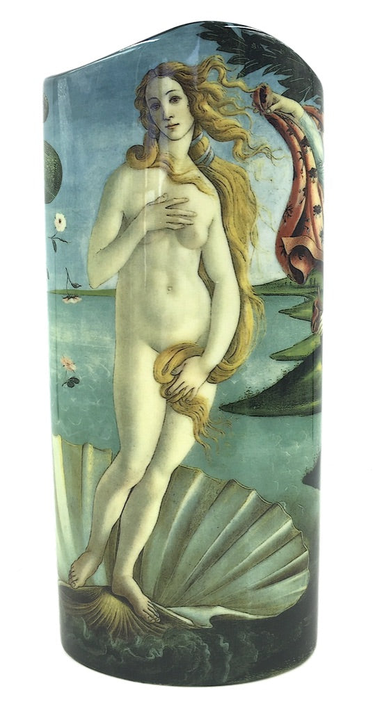 Botticelli Birth of Venus on Shell Renaissance Museum Art Ceramic Flower Vase 9H