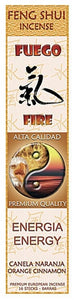 Museumize:Fire Energy Feng Shui Orange Cinnamon Incense Sticks - F-015 - 3 PACK