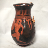 Greek Vase Two Warriors Red Figure AS IS ATTIC no returns