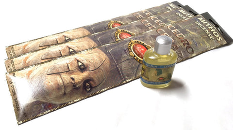 Museumize:Egyptian Cedar with Citrus Fragrance Oil and Incense Sticks by Flaires Bundle