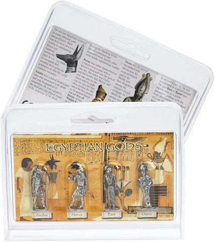 Learning Tools - Egyptian Gods Miniature Figurines Role Playing Pack Of 4 - 8005