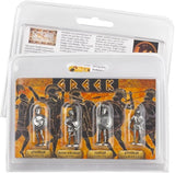 Museumize:Greek Warriors Figures Play Pack of 4 Miniature Figures 1.5H - 8006
