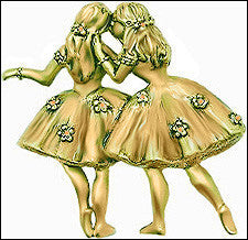 Museumize:Degas Pair of Ballerinas Pin inspired by Ballet at the Paris Opera - 4034