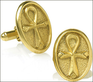 Museumize:Egyptian Ankh Symbol of Life Cufflinks - 7252