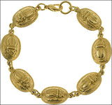 Egyptian Gold Scarab Bracelet - 4502 - Museumize