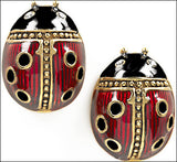 Faberge Ladybug Pierced Post Earrings - 4499 - Museumize