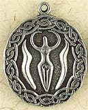 Museumize:Nile Goddess Egyptian Mother Goddess Pendant Pewter Necklace 0.75H
