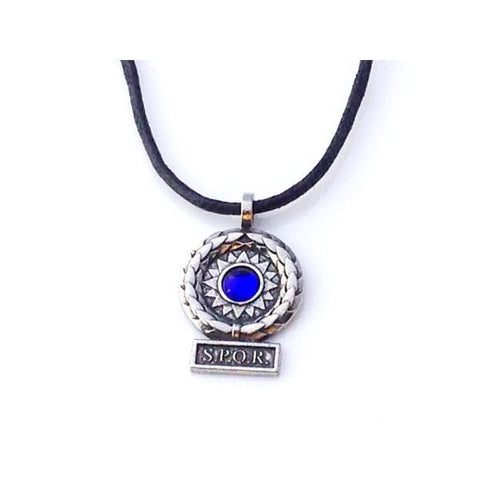 Museumize:SPQR Roman Victory Pendant Necklace Assorted Colors,Blue