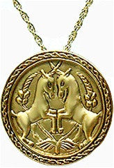 Museumize:Two Unicorns Pendant with Chain, Islamic Art - 7257
