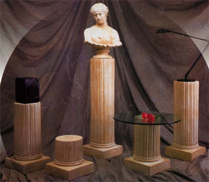 Museumize:Greek Fluted Column Pedestal Display, Assorted Sizes
