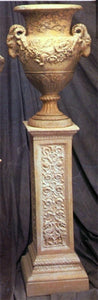 Museumize:Italian Square Display Pedestal with Ornate Vine Design 38.5H