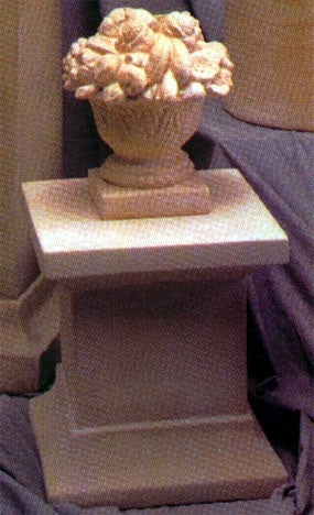 Museumize:Small Square Pedestal Display 16H - 8489