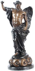 Museumize:Archangel St Michael Standing on Clouds Statue Bronze Metal 19H