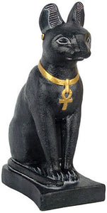 Museumize:Bastet Egyptian Cat Statue 7H, Assorted Colors,Black Basalt
