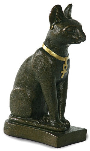 Bastet Egyptian Cat Statue Bronze Finish Cats Were