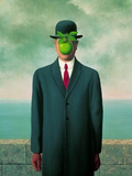Museumize:Bowler Hat Man with Green Apple Son of Man by Magritte, Assorted Sizes