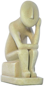 Museumize:Cycladic Thinker Statue Like Rodin The Thinker 6.5H