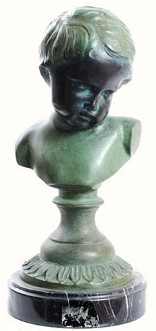 French Boy Bust, Lost Wax Bronze - 7921 - Museumize  - 1