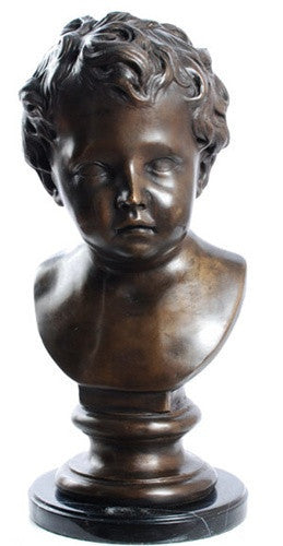 Museumize:French Boy Bust, Lost Wax Bronze - 7940