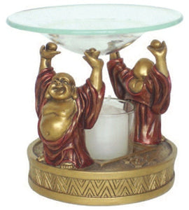 Museumize:Happy Buddha Ho Tai Aroma Fragrance Diffuser Burner 4H - O-149GR