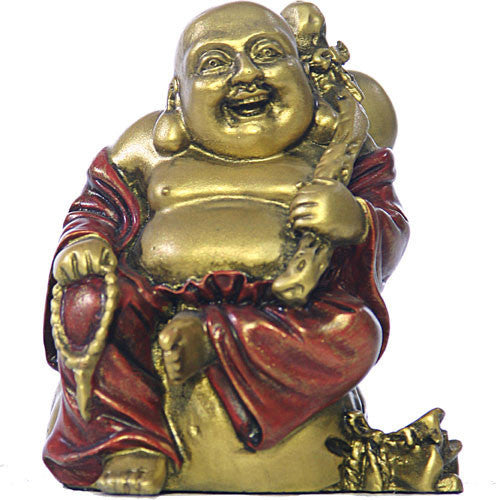 Museumize:Happy Buddha Ho Tai Seated on Coin Bag, Miniature, 3